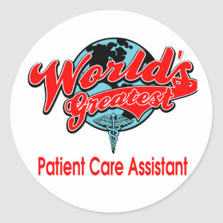 World's Greatest Patient Care Assistant Classic Round Sticker