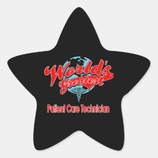 World's Greatest Patient Care Technician Star Sticker