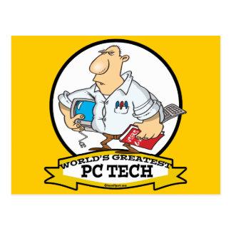 WORLDS GREATEST PC TECH MEN CARTOON POSTCARD