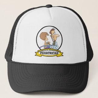 WORLDS GREATEST PEDIATRICIAN MEN CARTOON TRUCKER HAT