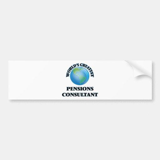 World's Greatest Pensions Consultant Bumper Sticker