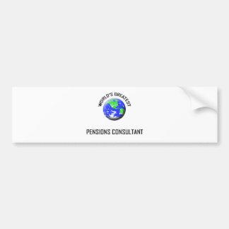 World's Greatest Pensions Consultant Bumper Stickers