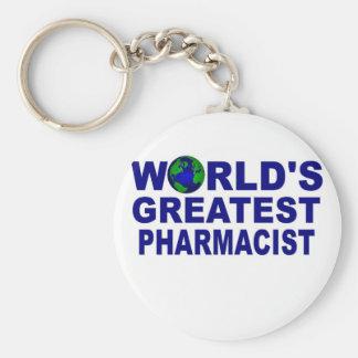 World's Greatest Pharmacist Basic Round Button Key Ring