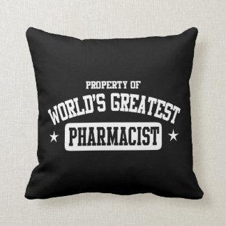 World's Greatest Pharmacist Cushion