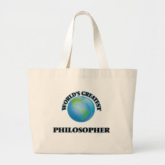 World's Greatest Philosopher Tote Bags