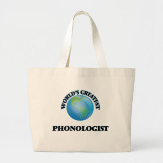 World's Greatest Phonologist Canvas Bags