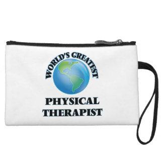 World's Greatest Physical Therapist Wristlet Purses