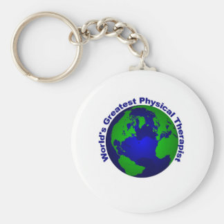 World's Greatest Physical Therapist Basic Round Button Key Ring