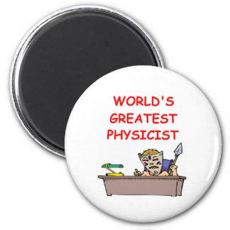 world's greatest physicist 6 cm round magnet
