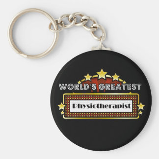 World's Greatest Physiotherapist Basic Round Button Key Ring
