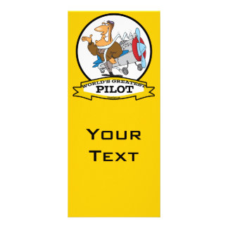 WORLDS GREATEST PILOT II MEN CARTOON RACK CARD