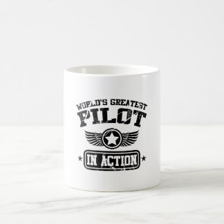 World's Greatest Pilot In Action Coffee Mug