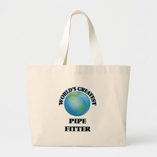 World's Greatest Pipe Fitter Canvas Bags
