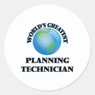 World's Greatest Planning Technician Round Sticker