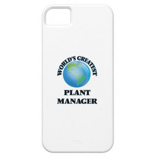 World's Greatest Plant Manager iPhone 5 Case