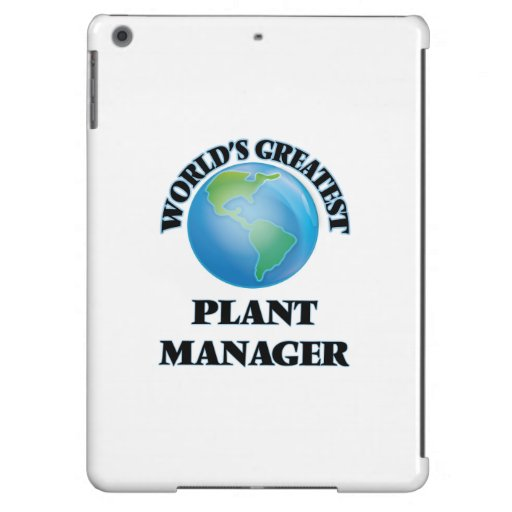 World's Greatest Plant Manager Cover For iPad Air