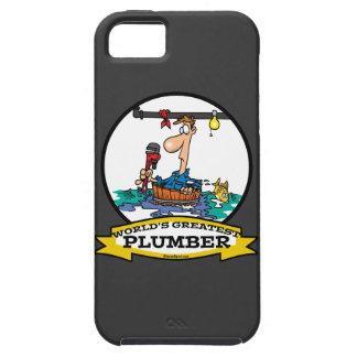 WORLDS GREATEST PLUMBER IV MEN CARTOON iPhone 5 CASE