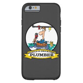 WORLDS GREATEST PLUMBER IV MEN CARTOON TOUGH iPhone 6 CASE