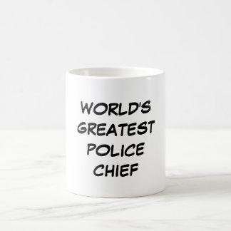 """World's Greatest Police Chief"" Mug"