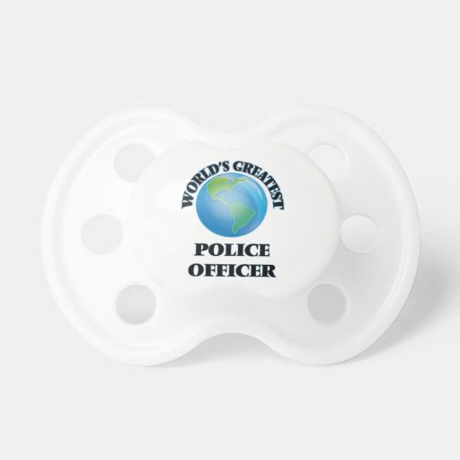 World's Greatest Police Officer Baby Pacifier