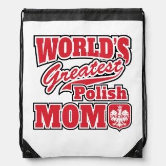 World's Greatest Polish Mom Drawstring Backpack