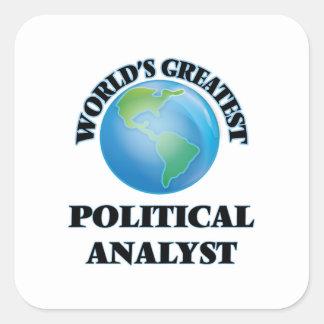 World's Greatest Political Analyst Sticker