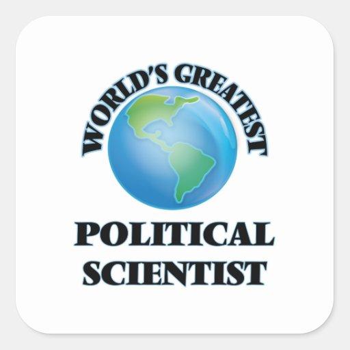 World's Greatest Political Scientist Stickers