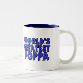 World's Greatest Poppa Two-Tone Mug