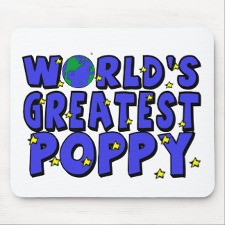 World's Greatest Poppy Mouse Pad
