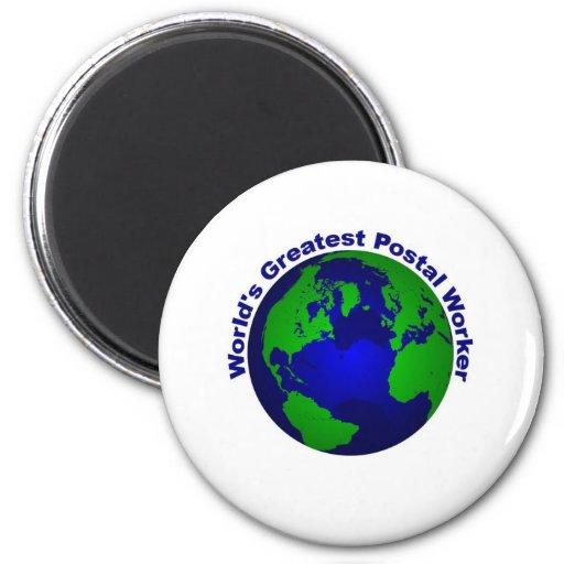 World's Greatest Postal Worker Fridge Magnet