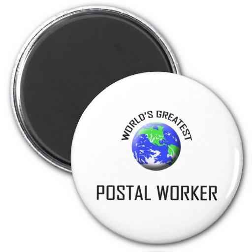 World's Greatest Postal Worker Refrigerator Magnets