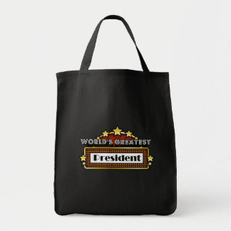 World's Greatest President Canvas Bags