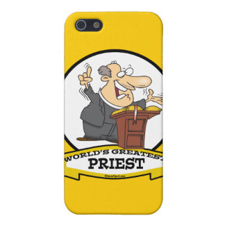 WORLDS GREATEST PRIEST MEN CARTOON iPhone 5/5S COVER