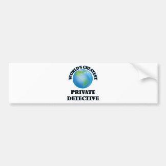 World's Greatest Private Detective Bumper Sticker