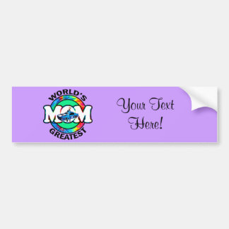 World's Greatest Racing Mom Bumper Sticker