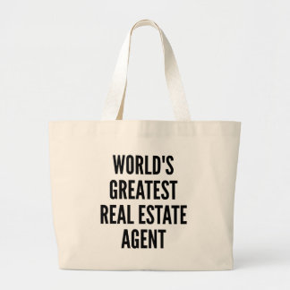 Worlds Greatest Real Estate Agent Jumbo Tote Bag
