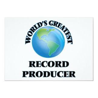 World's Greatest Record Producer Invitations