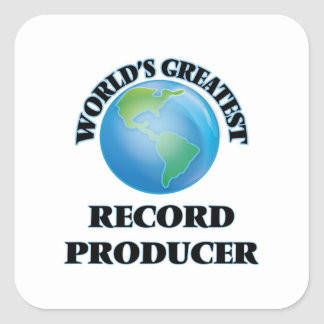 World's Greatest Record Producer Square Sticker