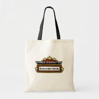 World's Greatest Records Clerk Bags