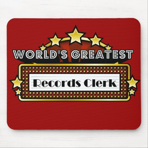 World's Greatest Records Clerk Mousepads