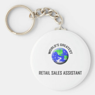 World's Greatest Retail Sales Assistant Basic Round Button Key Ring