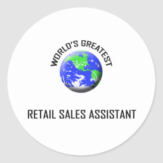 World's Greatest Retail Sales Assistant Stickers