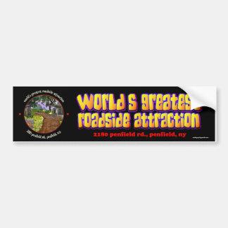 world's greatest roadside attraction bumper sticker
