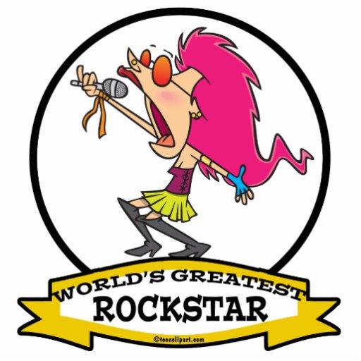 WORLDS GREATEST ROCKSTAR FEMALE CARTOON PHOTO SCULPTURES