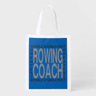Worlds Greatest Rowing Coach Reusable Grocery Bag