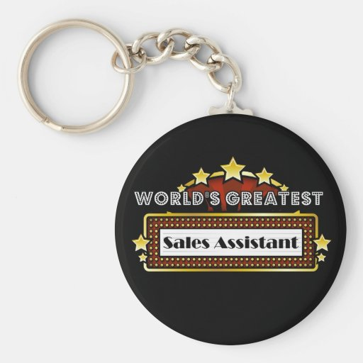 World's Greatest Sales Assistant Keychains