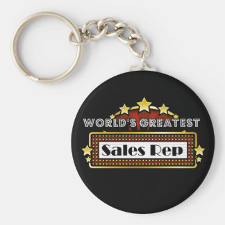 World's Greatest Sales Rep Keychain