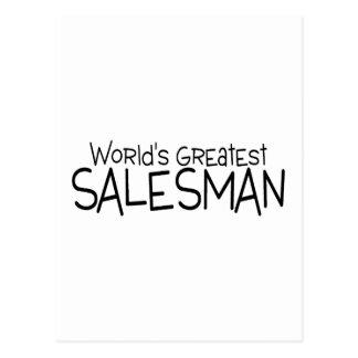 Worlds Greatest Salesman Postcard