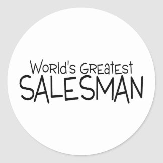 Worlds Greatest Salesman Round Stickers