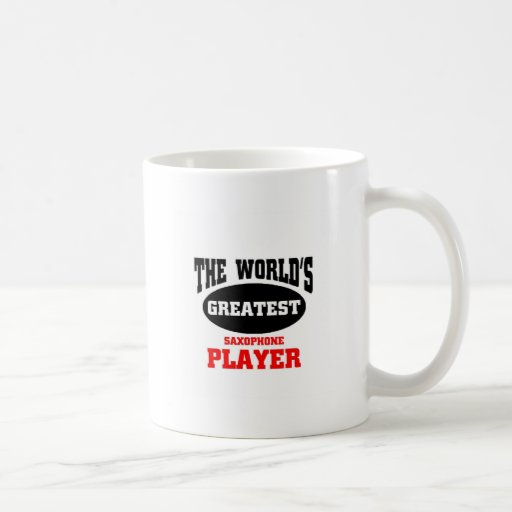World's greatest saxophone player mug